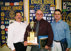 "Ken, Phillip, Ben, and Jeff Curti honored with the ""Farmer of the Year"" award in 2005"