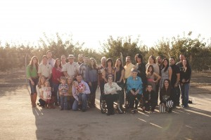 The extended Curti family: second, third, fourth and fifth generations.