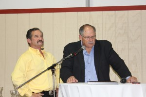 Larry Dutto, a longtime family friend of the Curti's, was the master of ceremonies.
