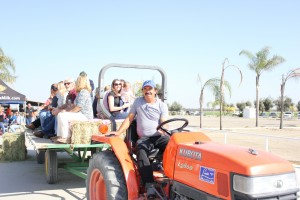 Guests enjoyed a hay ride around Curtimade Dairy.